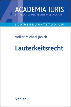 Jänich | Lauterkeitsrecht | Buch
