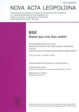 BSE - Status quo und Quo vadis?