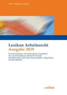 Rabe von Pappenheim  | Lexikon Arbeitsrecht 2019 | Buch