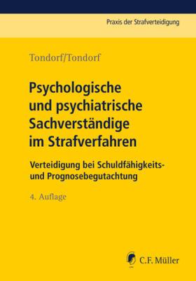 Psychologische und psychiatrische Sachverständige im Strafverfahren