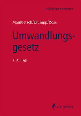 Maulbetsch/Klumpp/Rose | Umwandlungsgesetz | Buch