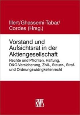 Illert / Ghassemi-Tabar / Cordes   Handbuch Vorstand und Aufsichtsrat   Buch