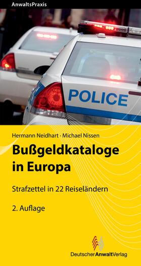Bußgeldkataloge in Europa