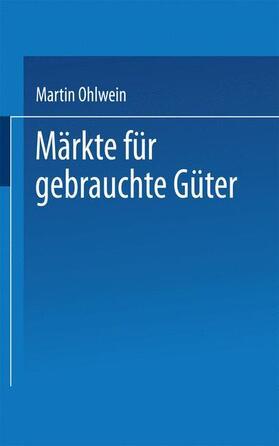 Märkte für gebrauchte Güter