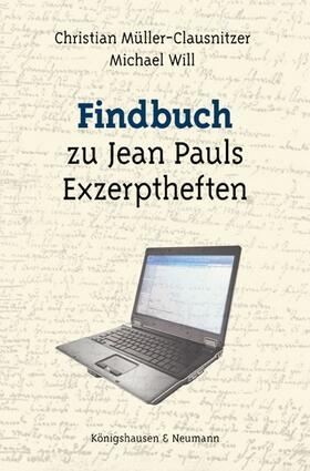 Findbuch zu Jean Pauls Exzerptheften