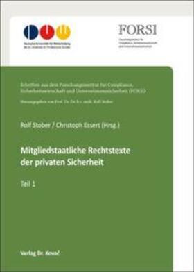 Stober / Essert | Mitgliedstaatliche Rechtstexte der privaten Sicherheit | Buch