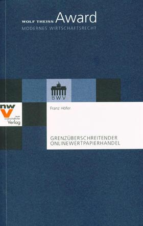 Höfer | Grenzüberschreitender Onlinewertpapierhandel | Buch