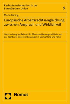 Böning   Europäische Arbeitsrechtsangleichung zwischen Anspruch und Wirklichkeit   Buch