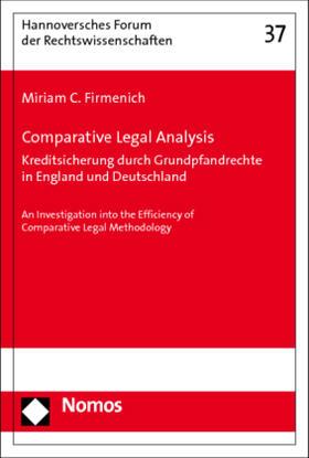 Firmenich | Comparative Legal Analysis. Kreditsicherung durch Grundpfandrechte in England und Deutschland | Buch