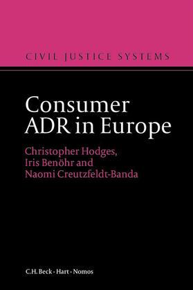 Hodges / Benöhr / Creutzfeld-Banda | Consumer ADR in Europe | Buch