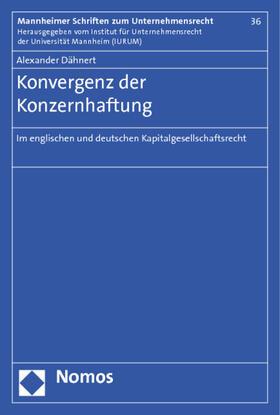 Dähnert   Konvergenz der Konzernhaftung   Buch
