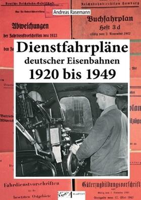 Dienstfahrpläne Deutscher Eisenbahnen