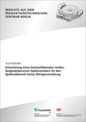 Entwicklung eines hochauflösenden wellenlängendispersiven Spektrometers für den Spektralbereich harter Röntgenstrahlung.