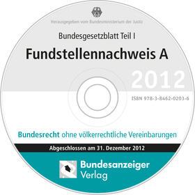 BGBL Fundstellennachweis A 2012 CD-ROM | Sonstiges