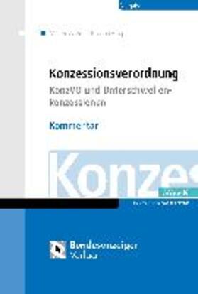 Braun / Horn / Kadenbach   KonzVgV - Kommentar   Buch