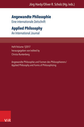 Angewandte Philosophie. Eine internationale Zeitschrift / Applied Philosophy. An International Journal