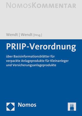 Wendt / Wendt, LL.M. | PRIPs-Verordnung | Buch