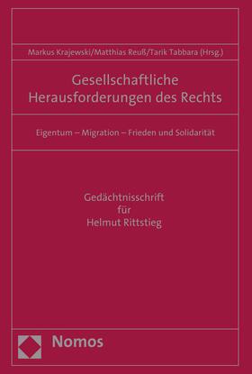 Krajewski/Reuß/Tabbara | Gesellschaftliche Herausforderungen des Rechts | Buch