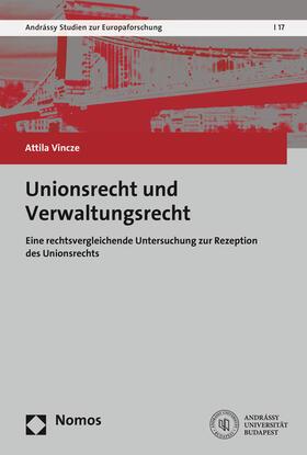 Vincze | Unionsrecht und Verwaltungsrecht | Buch