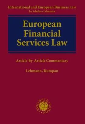 Lehmann / Kumpan | European Financial Services Law | Buch