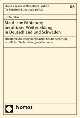 Staatliche Förderung beruflicher Weiterbildung in Deutschland und Schweden