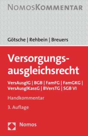 Götsche/Rehbein/Breuers | Versorgungsausgleichsrecht | Buch