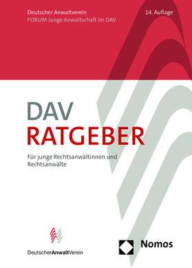 DAV-Ratgeber für junge Rechtsanwältinnen und Rechtsanwälte
