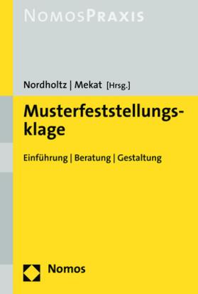 Nordholtz / Mekat   Musterfeststellungsklage   Buch