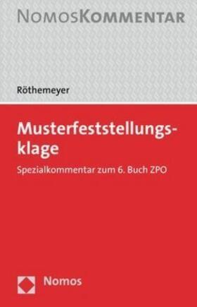 Röthemeyer | Musterfeststellungsklage | Buch