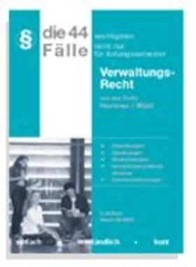 Hemmer/Wüst   Die 44 wichtigsten Fälle Verwaltungsrecht   Buch