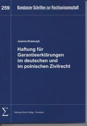 Krawczyk | Haftung für Garantieerklärungen im deutschen und im polnischen Zivilrecht | Buch