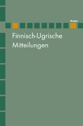 Finnisch-Ugrische Mitteilungen Band 23