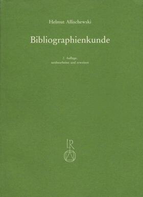 Bibliographienkunde