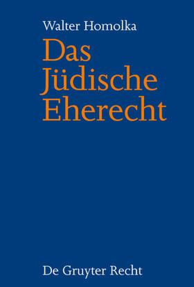 Das Jüdische Eherecht
