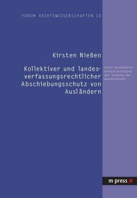 Niessen | Kollektiver und landesverfassungsrechtlicher Abschiebungsschutz von Ausländern | Buch