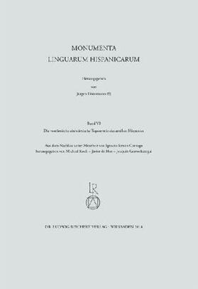 Die vorrömische einheimische Toponymie des antiken Hispanien