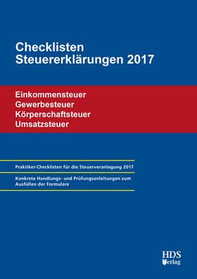 Checklisten Steuererklärungen 2017