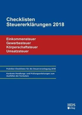 Checklisten Steuererklärungen 2018