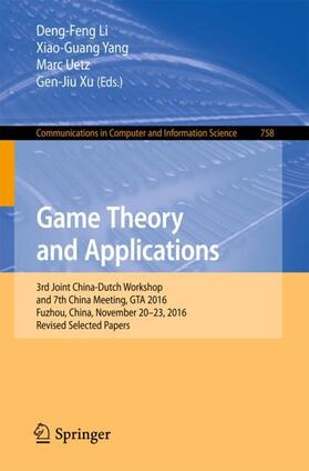 Li/Yang/Uetz | Game Theory and Applications | Buch