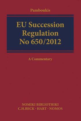 Pamboukis | EU Succession Regulation No 650/2012 - Mängelexemplar, kann leichte Gebrauchsspuren aufweisen. Sonderangebot ohne Rückgaberecht. Nur so lange der Vorrat reicht. | Buch | sack.de