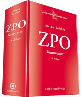 Prütting / Gehrlein | ZPO Kommentar - Vorauflage, kann leichte Gebrauchsspuren aufweisen. Sonderangebot ohne Rückgaberecht. Nur so lange der Vorrat reicht. | Buch | sack.de