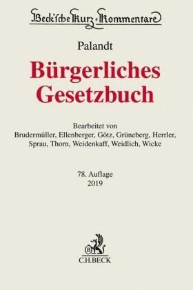 Palandt   Bürgerliches Gesetzbuch: BGB - Vorauflage, kann leichte Gebrauchsspuren aufweisen. Sonderangebot ohne Rückgaberecht. Nur so lange der Vorrat reicht.   Buch   sack.de
