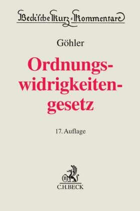 Göhler | Gesetz über Ordnungswidrigkeiten: OWiG - Vorauflage, kann leichte Gebrauchsspuren aufweisen. Sonderangebot ohne Rückgaberecht. Nur so lange der Vorrat reicht. | Buch | sack.de