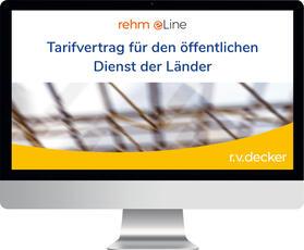 Tarifvertrag für den öffentlichen Dienst der Länder (TV-L) inkl. Lexikon Arbeitsrecht im ö.D.   Datenbank   sack.de