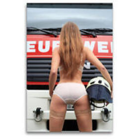 Premium Textil-Leinwand 80 x 120 cm Hoch-Format Feuerwehrkalender – Erotische Fotografien von Thomas Siepmann   Wandbild, HD-Bild auf Keilrahmen, Fertigbild auf hochwertigem Vlies, Leinwanddruck von Thomas Siepmann   Sonstiges   sack.de