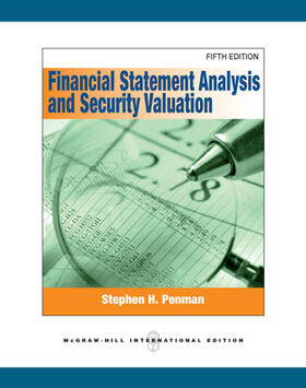 Penman | Financial Statement Analysis and Security Valuation | Buch | sack.de
