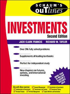 Francis / Taylor | Schaum's Outline of Investments | Buch | sack.de