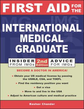 Chander | First Aid for the International Medical Graduate | Buch | sack.de
