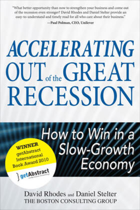 Rhodes / Stelter | Accelerating Out of the Great Recession | Buch | sack.de