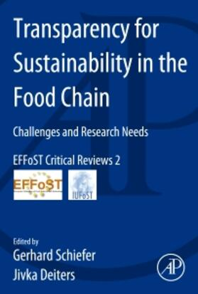Schiefer / Deiters | Transparency for Sustainability in the Food Chain | Buch | sack.de